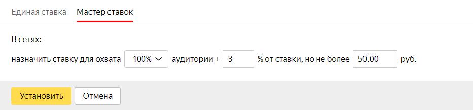Ставки в Яндекс РСЯ